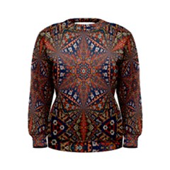 Armenian Carpet In Kaleidoscope Women s Sweatshirt