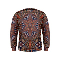 Armenian Carpet In Kaleidoscope Kids  Sweatshirt