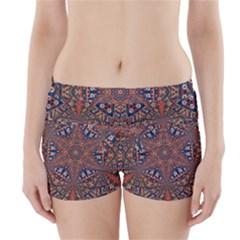 Armenian Carpet In Kaleidoscope Boyleg Bikini Wrap Bottoms