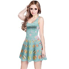 Turquoise Eggs Easter Reversible Sleeveless Dress