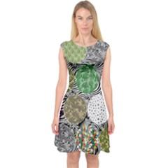 Dark Circles Cannabis Marijuana Capsleeve Midi Dress
