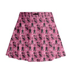 Cute Cats I Mini Flare Skirt