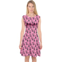 Cute Cats I Capsleeve Midi Dress