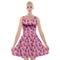 Cute Cats I Velvet Skater Dress