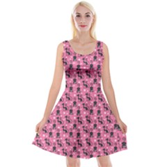 Cute Cats I Reversible Velvet Sleeveless Dress