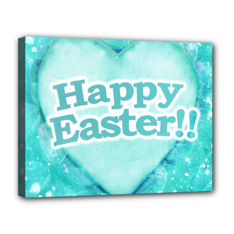 Happy Easter Theme Graphic Canvas 14  x 11
