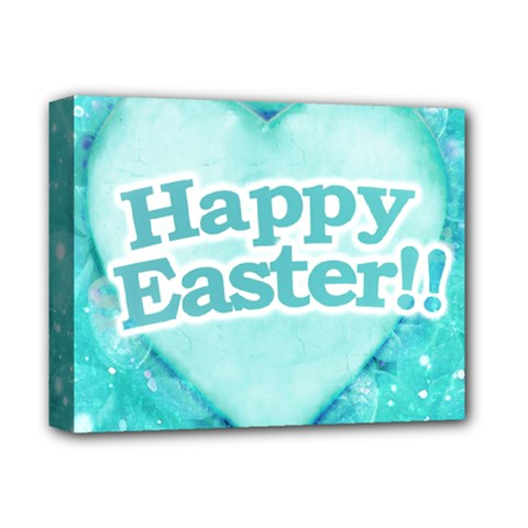 Happy Easter Theme Graphic Deluxe Canvas 14  x 11