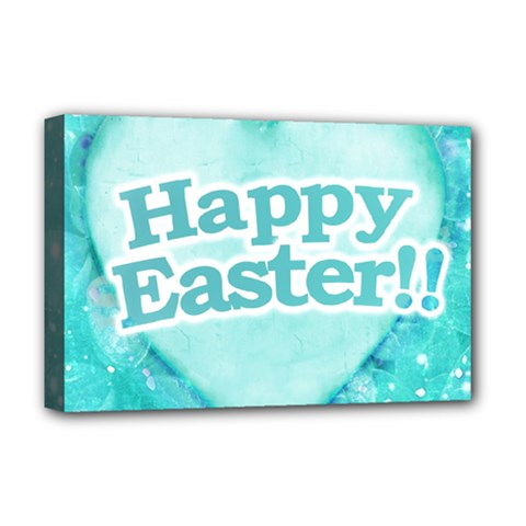 Happy Easter Theme Graphic Deluxe Canvas 18  x 12