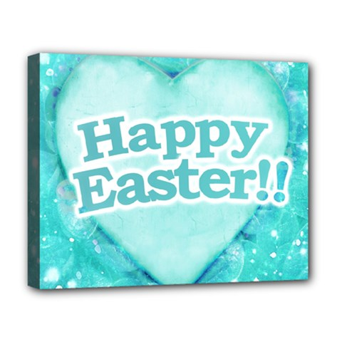 Happy Easter Theme Graphic Deluxe Canvas 20  x 16