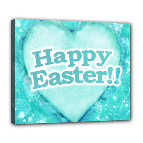 Happy Easter Theme Graphic Deluxe Canvas 24  x 20