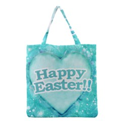 Happy Easter Theme Graphic Grocery Tote Bag