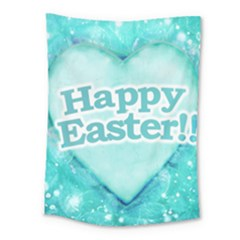 Happy Easter Theme Graphic Medium Tapestry