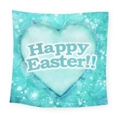 Happy Easter Theme Graphic Square Tapestry (large)
