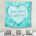 Happy Easter Theme Graphic Square Tapestry (Large) View2