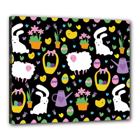 Cute Easter pattern Canvas 24  x 20