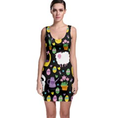 Cute Easter pattern Sleeveless Bodycon Dress