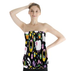 Cute Easter pattern Strapless Top