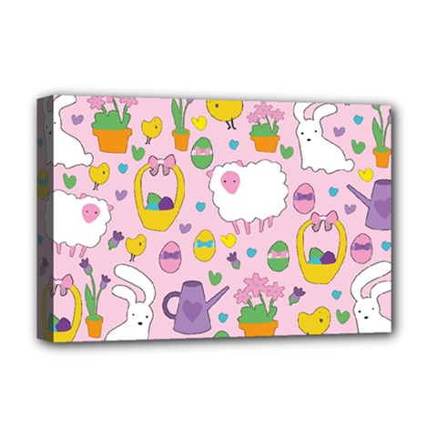 Cute Easter pattern Deluxe Canvas 18  x 12