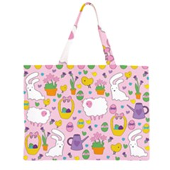 Cute Easter pattern Large Tote Bag