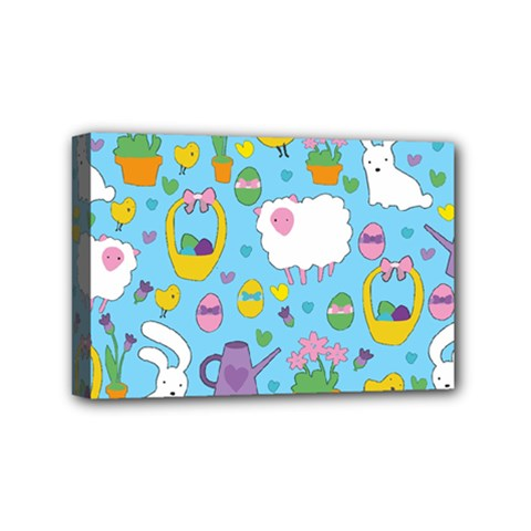 Cute Easter pattern Mini Canvas 6  x 4