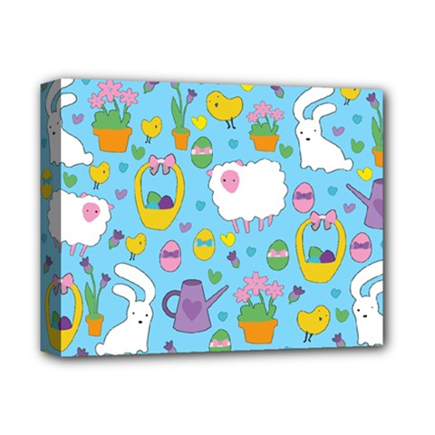Cute Easter pattern Deluxe Canvas 14  x 11