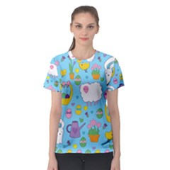 Cute Easter pattern Women s Sport Mesh Tee