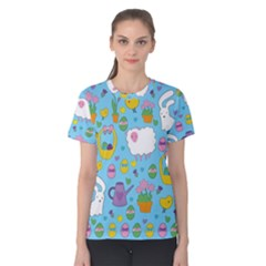 Cute Easter pattern Women s Cotton Tee