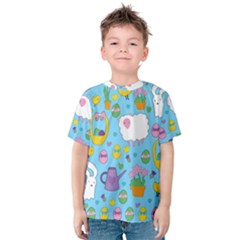 Cute Easter pattern Kids  Cotton Tee
