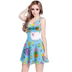 Cute Easter pattern Reversible Sleeveless Dress