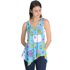 Cute Easter pattern Sleeveless Tunic