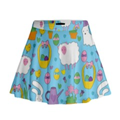 Cute Easter pattern Mini Flare Skirt