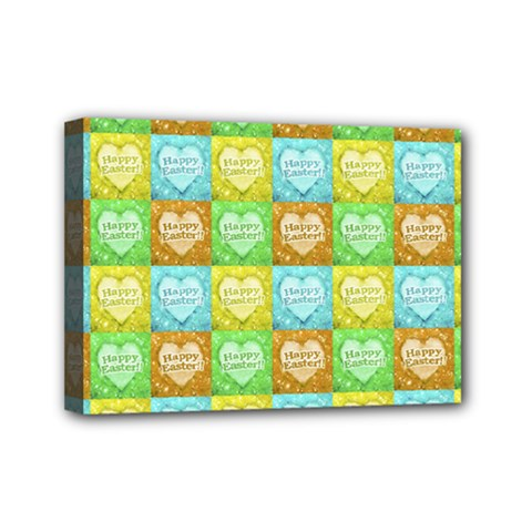 Colorful Happy Easter Theme Pattern Mini Canvas 7  x 5