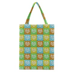 Colorful Happy Easter Theme Pattern Classic Tote Bag