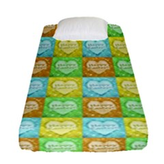 Colorful Happy Easter Theme Pattern Fitted Sheet (Single Size)