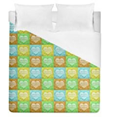 Colorful Happy Easter Theme Pattern Duvet Cover (Queen Size)