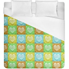 Colorful Happy Easter Theme Pattern Duvet Cover (King Size)