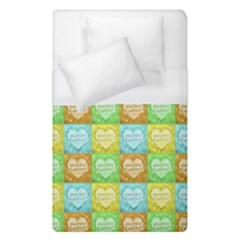 Colorful Happy Easter Theme Pattern Duvet Cover (Single Size)