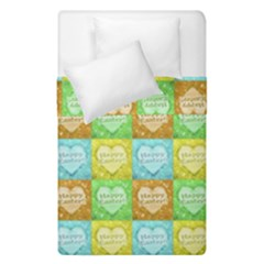 Colorful Happy Easter Theme Pattern Duvet Cover Double Side (Single Size)