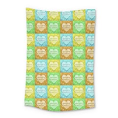 Colorful Happy Easter Theme Pattern Small Tapestry