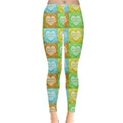 Colorful Happy Easter Theme Pattern Leggings