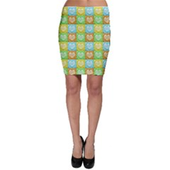 Colorful Happy Easter Theme Pattern Bodycon Skirt