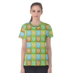 Colorful Happy Easter Theme Pattern Women s Cotton Tee