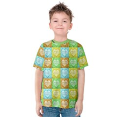 Colorful Happy Easter Theme Pattern Kids  Cotton Tee