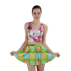 Colorful Happy Easter Theme Pattern Mini Skirt