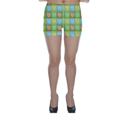 Colorful Happy Easter Theme Pattern Skinny Shorts
