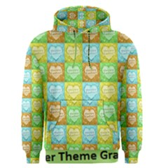 Colorful Happy Easter Theme Pattern Men s Pullover Hoodie