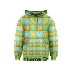 Colorful Happy Easter Theme Pattern Kids  Pullover Hoodie