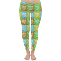 Colorful Happy Easter Theme Pattern Classic Winter Leggings