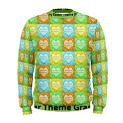 Colorful Happy Easter Theme Pattern Men s Sweatshirt