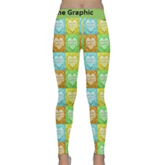 Colorful Happy Easter Theme Pattern Classic Yoga Leggings